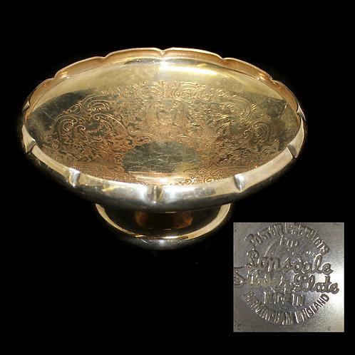 Конфетница (серебрение, 5×11,5 см) Великобритания