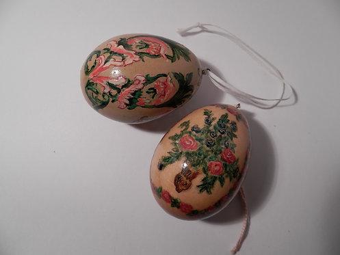 Набор пасхальных яиц, дерево, роспись.