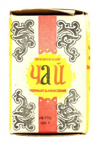 Чай заварочный «Грузинский», 9,5×6,5 см., СССР