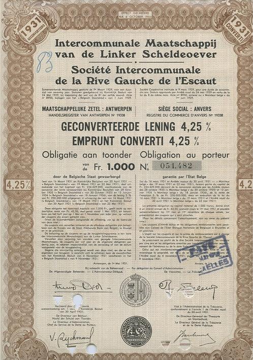 1000 франков  Бельгия, 1931 г.