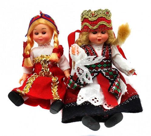 Лот кукол в народных костюмах, 12,5 см.