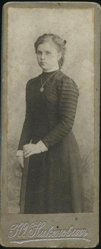 Фотокарточка, фотография художника Ю. Никоновича, 11,5×4,7 см. Российская Империя
