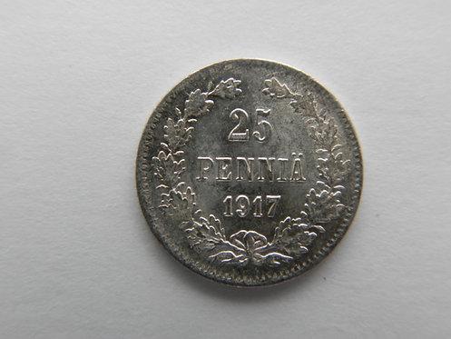 25 пенни 1917 г. без короны.
