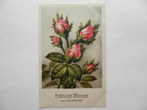 """Открытка """"цветы"""" №3. Германия"""