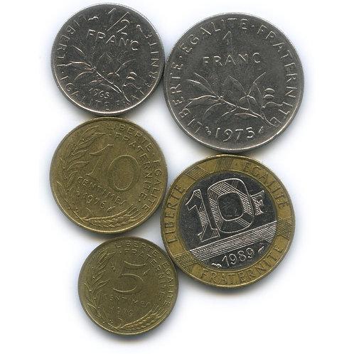 Набор монет Франции