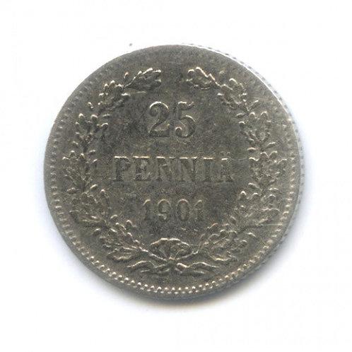 25 пенни 1901 г., L, Русская Финляндия, Николай II
