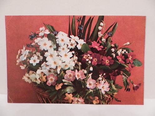 """Открытка """"букет цветов"""", 1975 г., СССР"""
