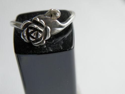 Кольцо серебро 925, р-р 17-17,5 Винтаж