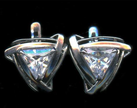 Серьги, серебро 925 пробы. 5,77 гр.