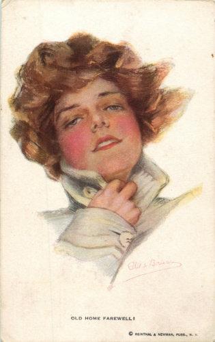 Карточка почтовая «Прощание с домом» (художник Ф. Буало) США