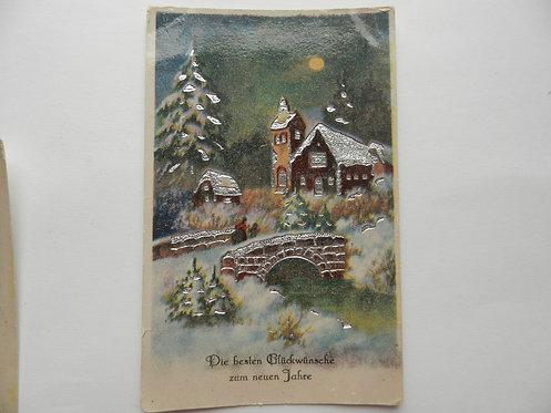 """Почтовая карточка """"Зима"""", Германия"""