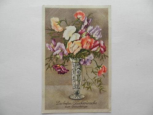 """Открытка """"цветы"""" №2. Германия"""