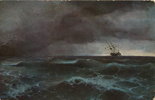 Карточка почтовая «Буря на Черном море» (Санкт-Петербург) Российская Империя