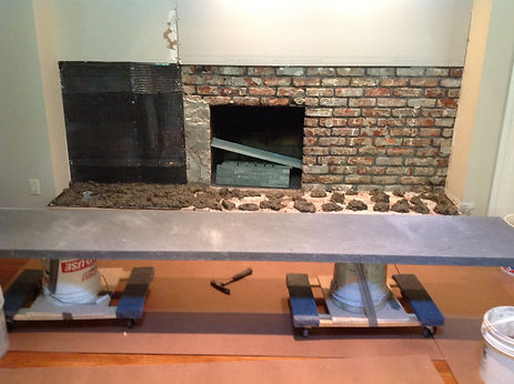 bluestone fireplace,huntington home improvements