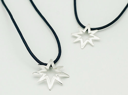 Silver Pendant on Leather (medium & large shown. click for size and pricing)