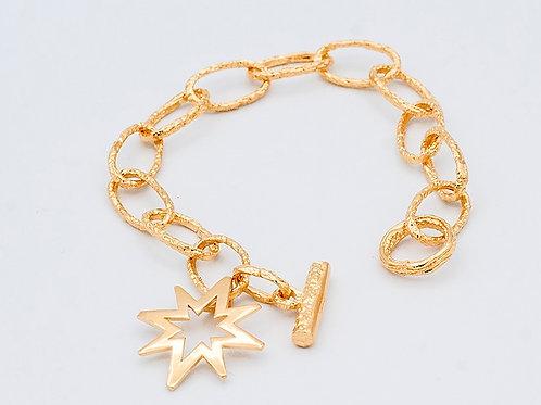 Gold Cast Link Bracelet (click for size and pricing details)