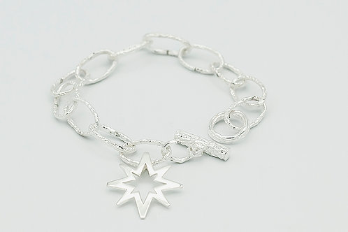 Silver Cast Link Bracelet (click for size and pricing details)