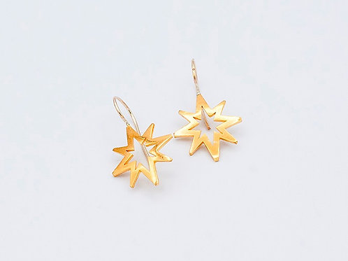 Gold Earrings on Wire (large shown. click for size and pricing details)