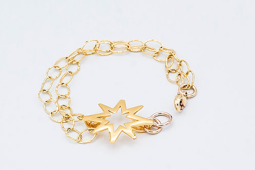 Gold Believe Bracelet (click for size and pricing details)