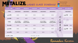 Metalize - Ramadan Ladies Schedule 2021.