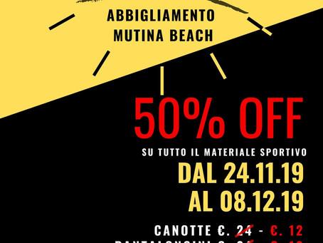 Black Friday Mutina Beach