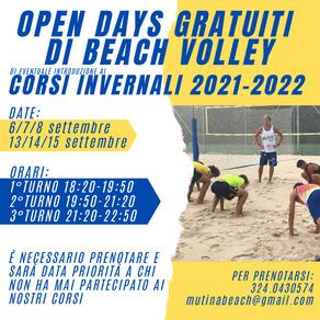OPEN DAYS GRATUITI DI BEACH VOLLEY