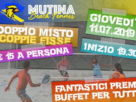 Torneo Beach Tennis - Doppio Misto COPPIE FISSE