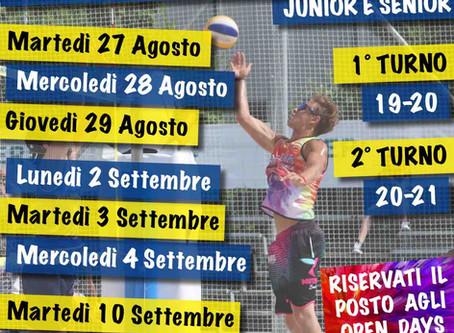 Open Days Beach Volley Junior e Senior Estate 2019