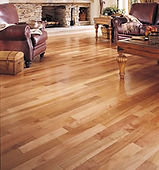 beautiful light colored hardwood floors in living room