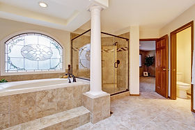 Stunning Remodeled Bathroom with custom Window