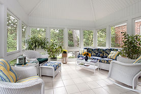 Beautiful enclosed Porch with high ceiling and Tile Floor
