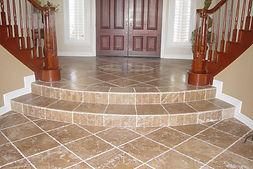 beautiful custom tile foyer