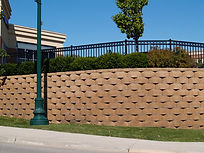 Large, commercial Retaining Wall