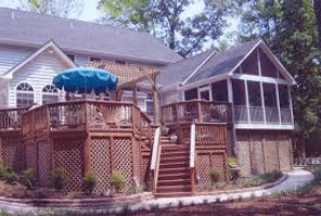 stunning, custom built deck and scxreened porch