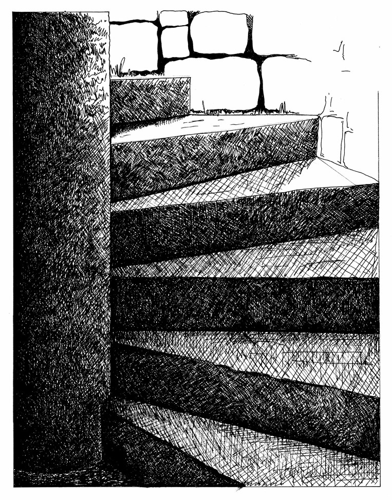 LIGHT STUDY- STAIRCASE TO MINE FROM THE MINERS' DRY