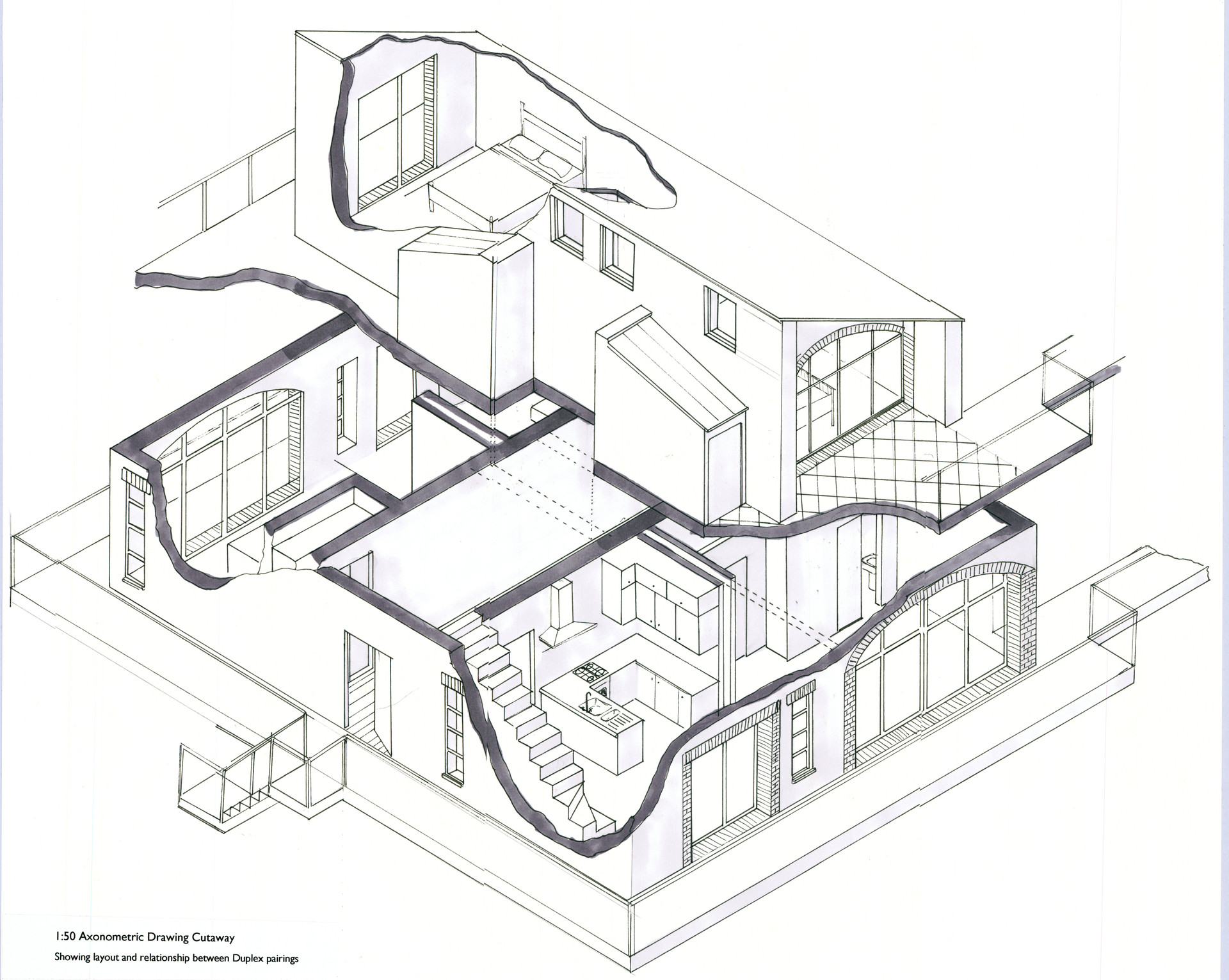 AXONOMETRIC DRAWING  2ND YEAR