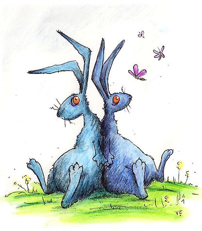 Blue hares
