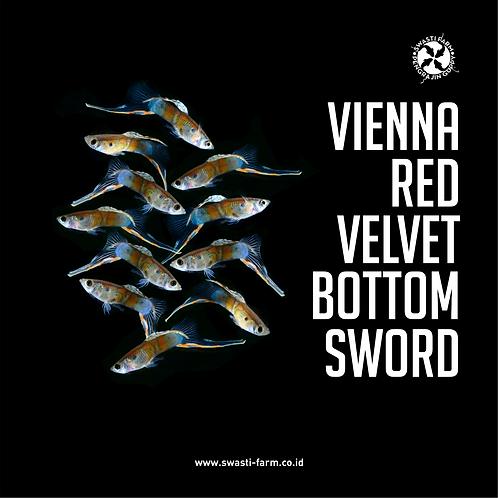 VIENNA RED VELVET BOTTOM SWORD