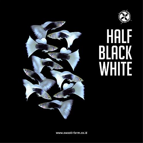 HALF BLACK WHITE