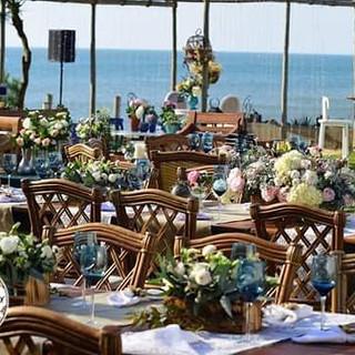 Azul da cor do mar! #weddingdecor #weddi