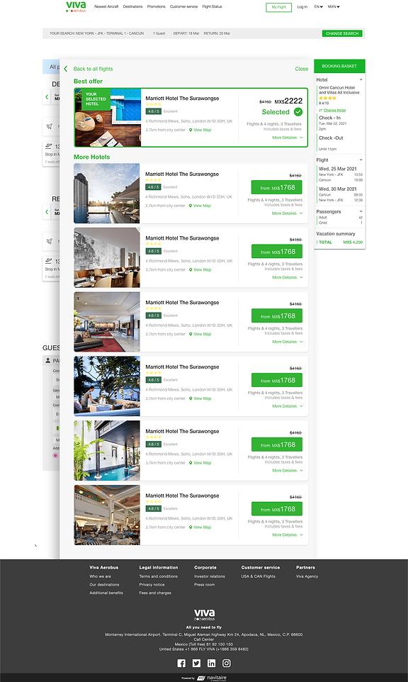 In-Cart - Hotel details