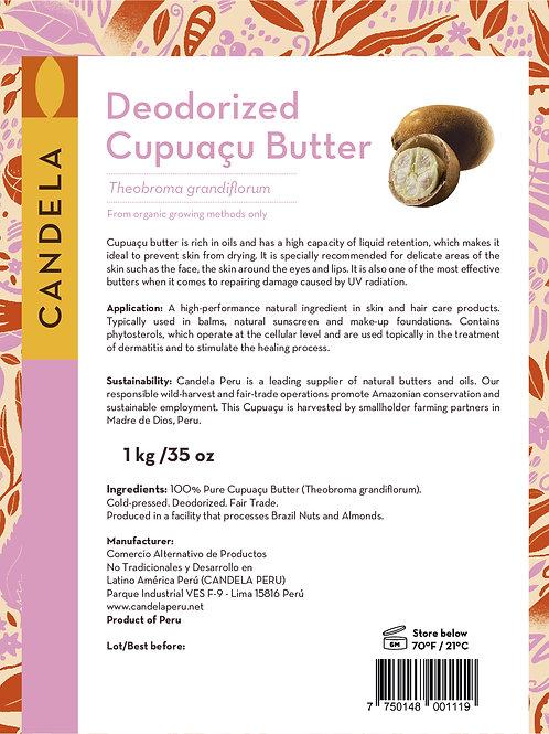 1 kg (2.2lb) Deodorized Cupuaçu Butter / Copoazu Butter