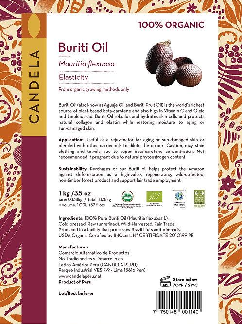 1 kg Organic Buriti Oil (Aguaje Oil ) (1.09 litres / 37 fl oz)