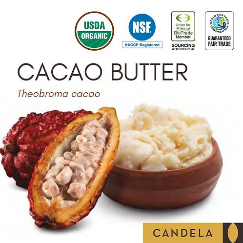 Premium Organic Raw Cacao Butter. Food grade.