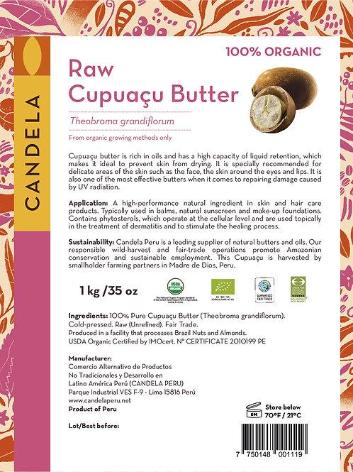 1 kg (2.2lb) Organic Cupuaçu Butter / Copoazu Butter (Raw / Unrefined)