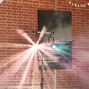 Disco lighting hired to at an event in Oxford