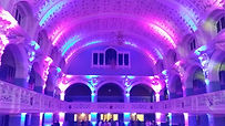 Oxford town hall lit with LED upligters
