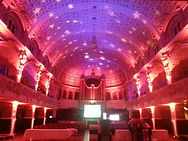 Oxford town hall lit for corporate event