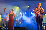 Oxford band lit up for an event