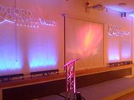 LED battens lighting up a conference set